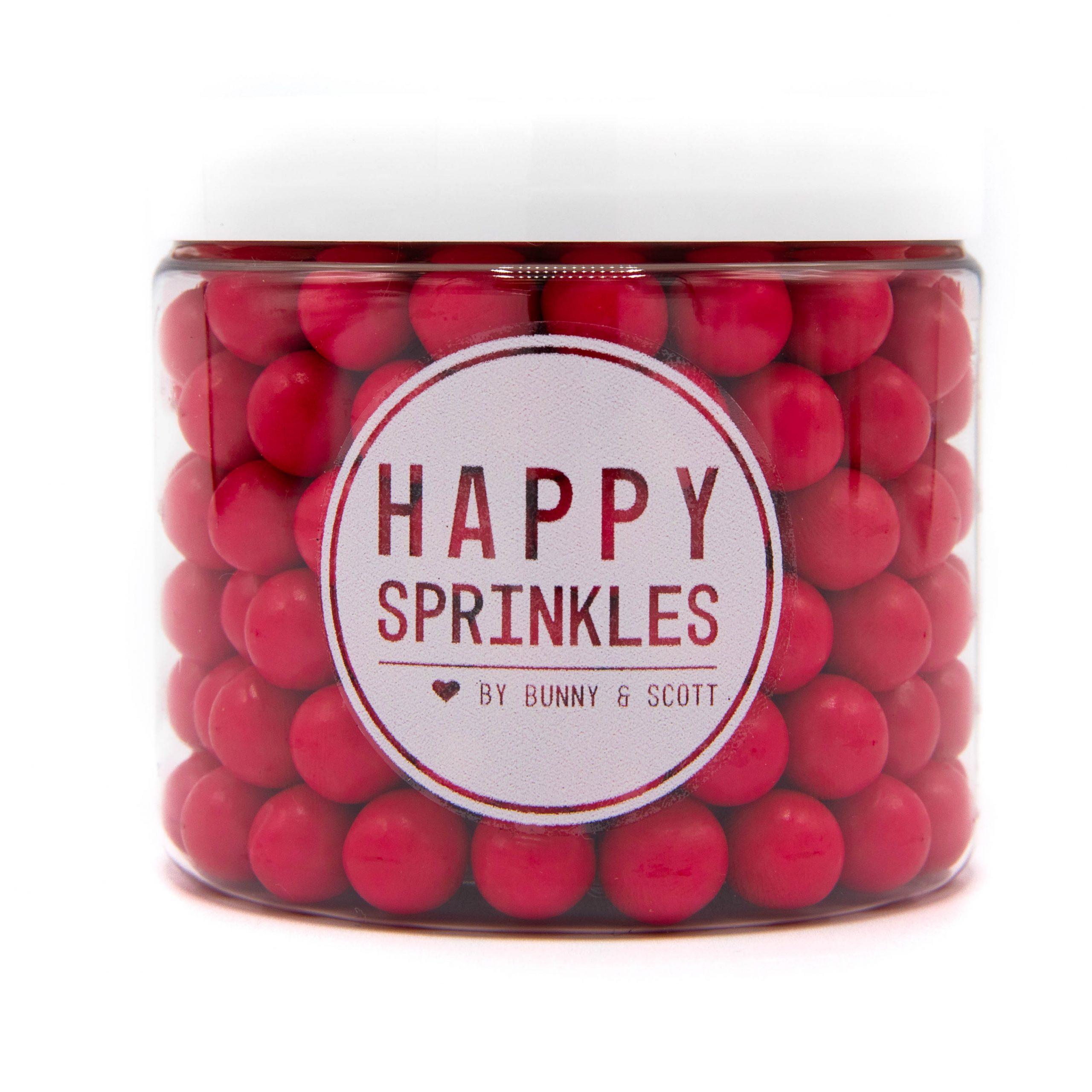 Happy Sprinkles Medium Choco Hot Pink